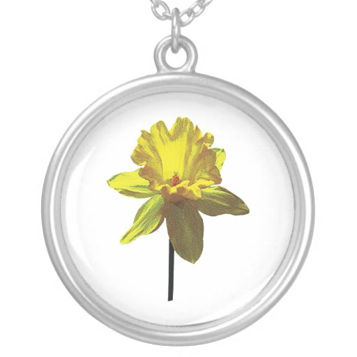 Daffodil Looking Up Personalized Necklace