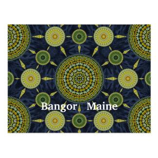 Daffodil Mandala Array Postcard