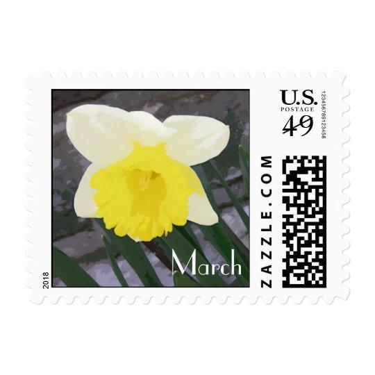 Daffodil March Birth Flower Postage