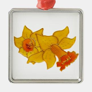 Daffodil Metal Ornament