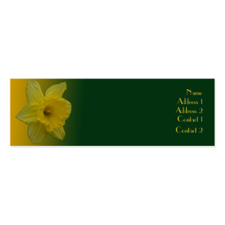 Daffodil Mini-Business Card Double-Sided Mini Business Cards (Pack Of 20)