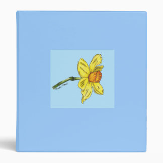 Daffodil (Narcissus) 3 Ring Binder