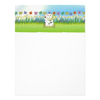 Daffodil Neko Personalized Letterhead
