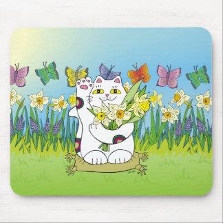 Daffodil Neko Mouse Pad