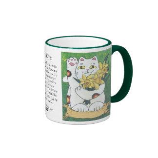 Daffodil Neko Ringer Coffee Mug