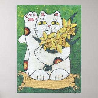 Daffodil Neko Poster