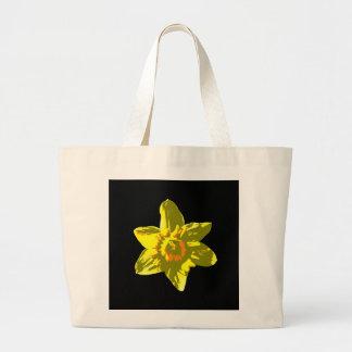 Daffodil On Black - Tote Jumbo Tote Bag