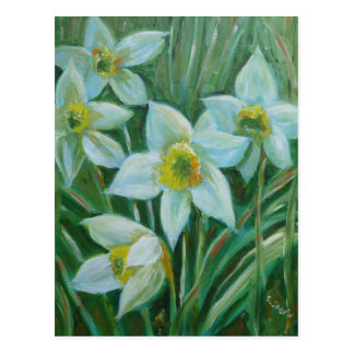 Daffodil original artwork postcard