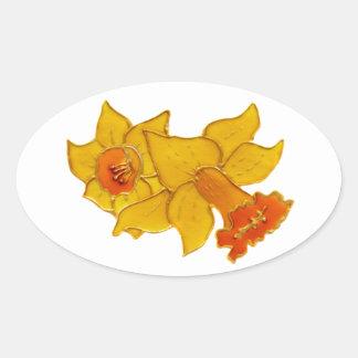 Daffodil Oval Sticker