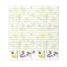 Daffodil Pansy Wildflower Botanical Drawings Lined Notepad
