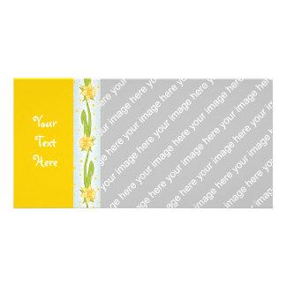 Daffodil Pattern Photo Card