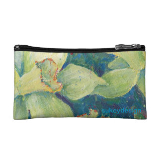 Daffodil Pistachio Small Zippered Pouch Cosmetic Bags