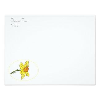 Daffodil Recipe Card