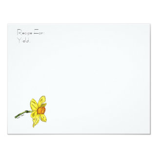Daffodil Recipe Card