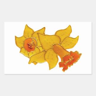Daffodil Rectangular Sticker