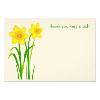 Daffodil simple modern thank you cards