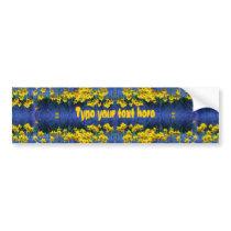 Daffodil Spring Fantasy Bumper Sticker