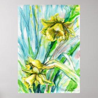 Daffodil Spring Poster print