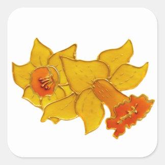 Daffodil Square Sticker