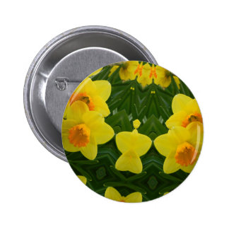 Daffodil Symmetry May 2013 Pinback Button