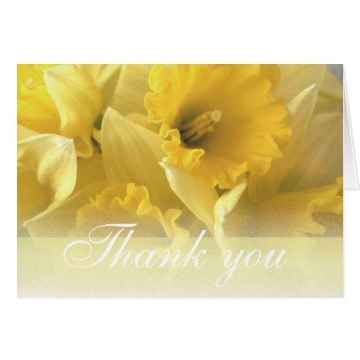 daffodil thankyou 1 card