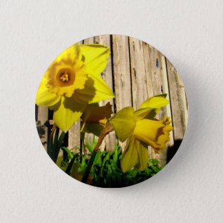 Daffodil Twins Pinback Button
