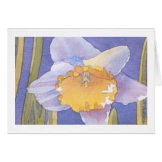 Daffodil Watercolor Greeting Card