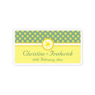 Daffodil Wedding, souvenir labels