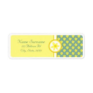 Daffodil Wedding, wedding return address labels