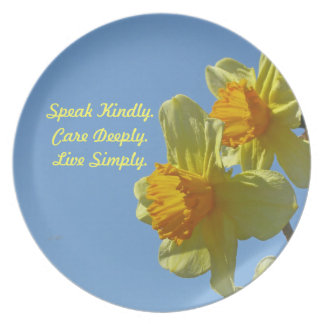 Daffodil with Quote Plate