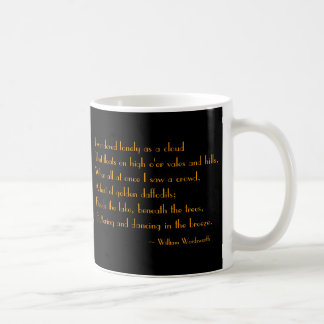 Daffodil With William Wordsworth Poem Ceramic Mug