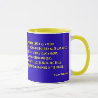 Daffodil With William Wordsworth Poem Ceramic Mug