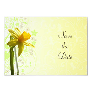 Daffodil Yellow Floral Spring Card