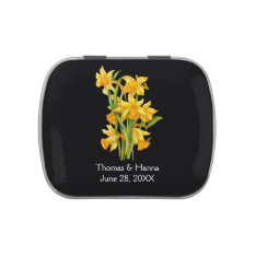 Daffodil Yellow Floral Wedding Jelly Belly Tins at Zazzle