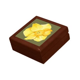 Daffodil Yellow Short-Trumpet Spring Flower Jewelry Box