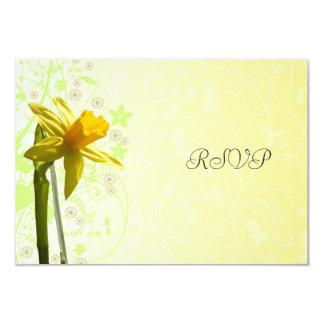 Daffodil Yellow Spring Wedding RSVP Reply Card