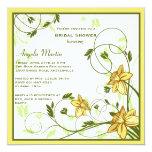 """Daffodills Invitation 5.25"""" Square Invitation Card"""