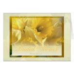 Daffodils 1 bridal shower invitation card