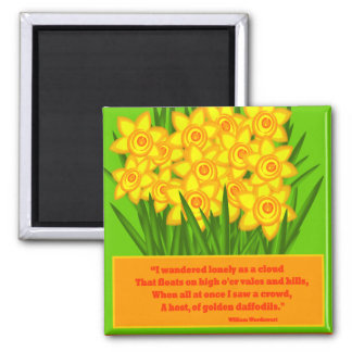 Daffodils 2 Inch Square Magnet