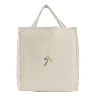 Daffodils and Bow Floral Embroidered Bag