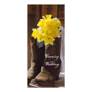 Daffodils and Cowboy Boots Country Wedding Program