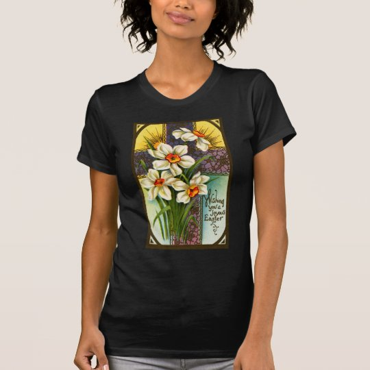 Daffodils and Cross Vintage Easter T-Shirt