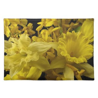 Daffodils and Forsythia Place Mats