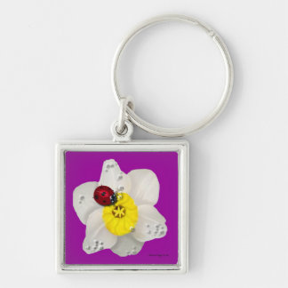 Daffodils and Ladybugs Key Chain