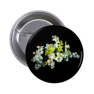 Daffodils and Lilacs Pinback Button