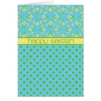 Daffodils and Polka Dots, Easter Card