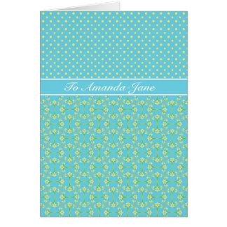 Daffodils and Polka Dots March Birthday Card