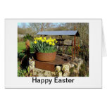 Daffodils and Wishing Well Easter Card