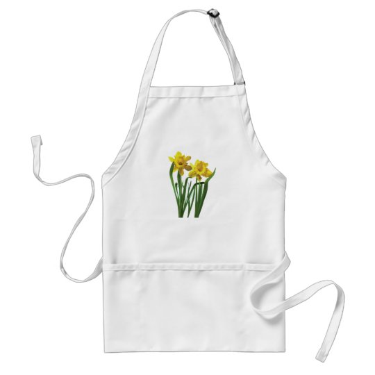 Daffodils At Attention Adult Apron
