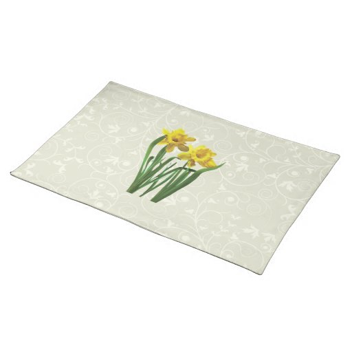 Daffodils At Attention Cloth Placemat